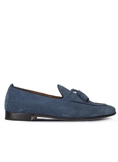 Deery Ayakkabı Hakiki Deri Mavi